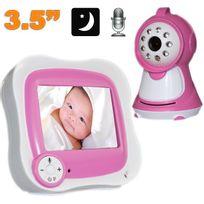 Yonis - Babyphone vidéo 3.5 pouces babycam vision nocturne surveillance bébé