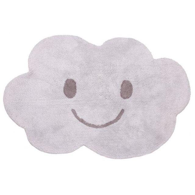 Nattiot tapis nuage nimbus gris lavable chambre bebe couleur gris taille 115 x 75 cm - Tapis nuage chambre bebe ...