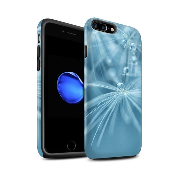 coque iphone 7 fleur bleu
