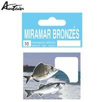 Autain - Carnet D'HAMEÇONS MontÉS Miramar Bronzes Droits