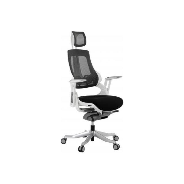 Kokoon Design Chaise de bureau ergonomique tissu noir Saloo