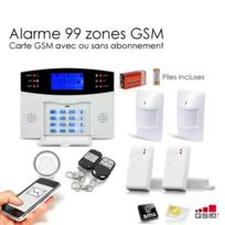 SecuriteGOODdeal - Alarme Maison Sans fil Gsm , 99 zones Medium
