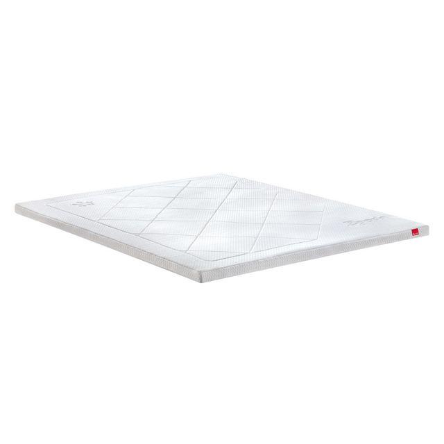 Epeda Surmatelas 160x200 mémoire de forme confort doux et enveloppant Actif Memo