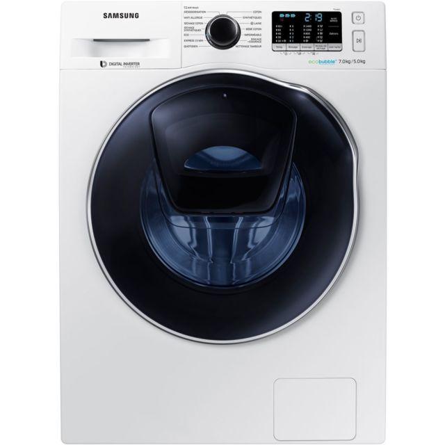 Samsung Lave linge séchant - WD70K5B10OW - Blanc
