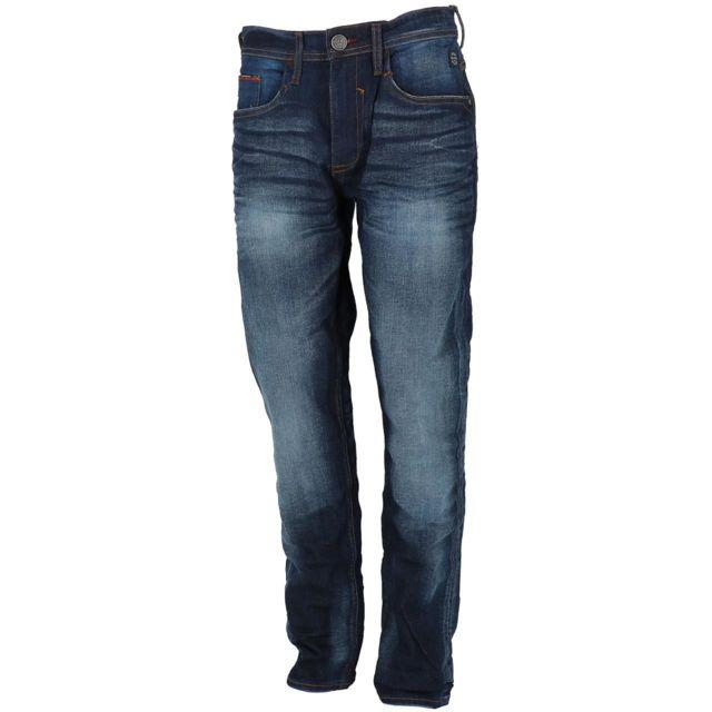 BLEND OF AMERICA Pantalon jeans slim Blend Jet 32 denim dk blue slim Bleu 25977