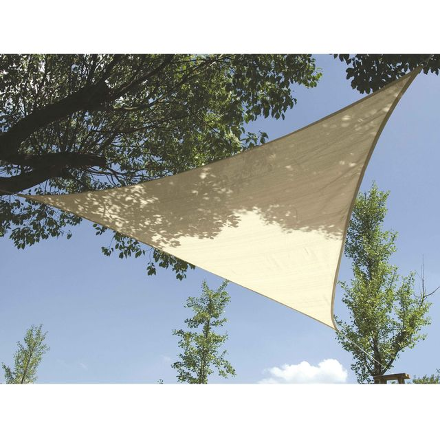 Provence Outillage Voile d'ombrage triangle 5m crème 5 m