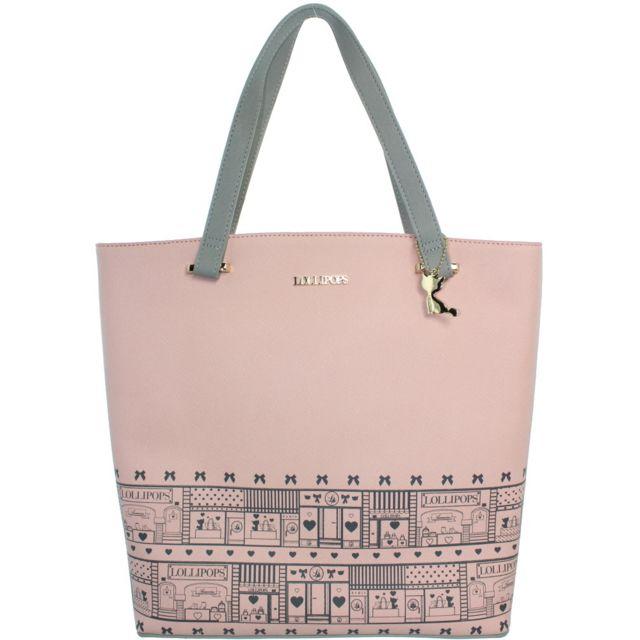 bab2bdae3b Lollipops - Sac porté épaule zour shopper ref_lol40475 pink - pas cher  Achat / Vente Sacs à main - RueDuCommerce