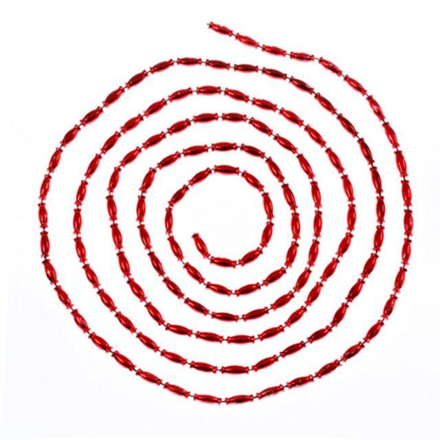 Atmosphera Guirlande de noël Perles ovales - 270 cm - Rouge
