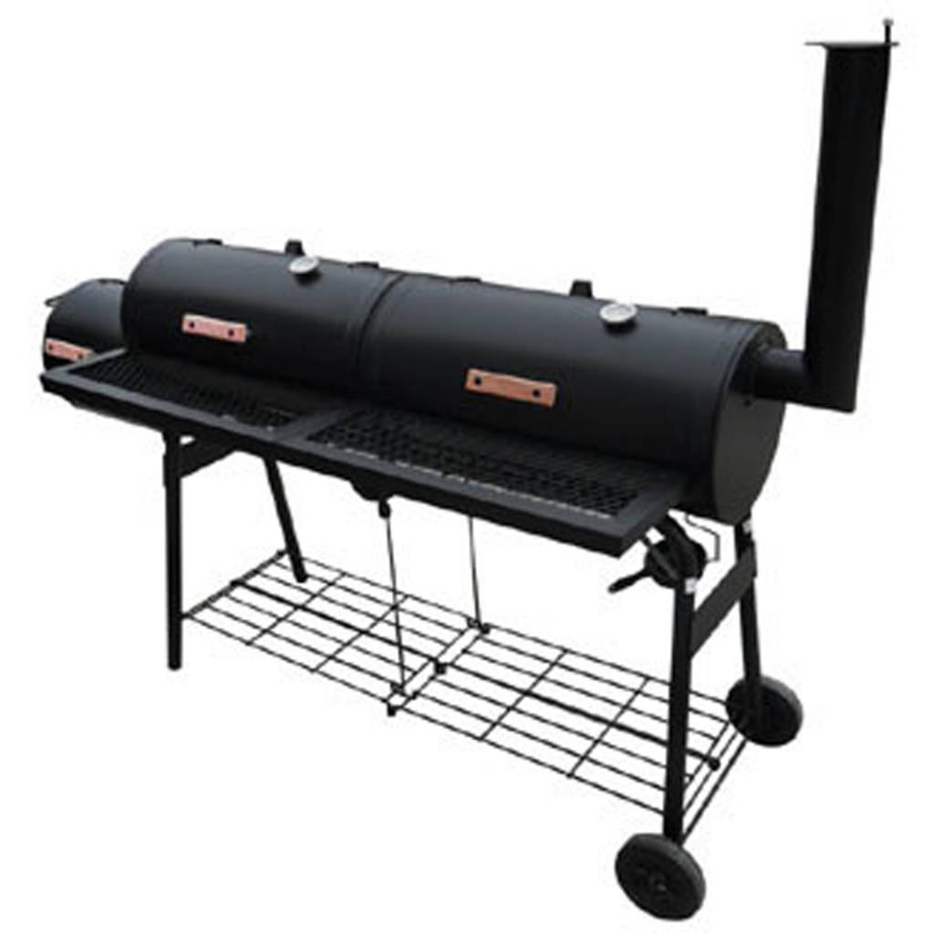 Rocambolesk - Superbe Barbecue américain Smoker fumoir double compartiment grill Neuf