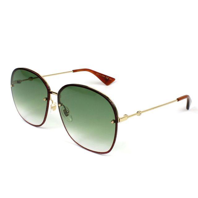 5e0f769abb Gucci - Lunettes de soleil Gg-0228-S 001 Femme Rouge - pas cher Achat /  Vente Lunettes Tendance - RueDuCommerce