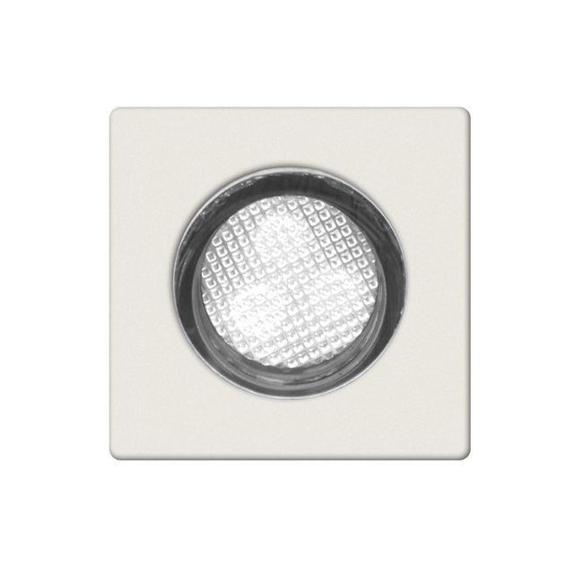 Brilliant Kit de 10 spots encastrables Ip44 Asta 30 10x0 07W Led intégrée Acier Inox Blanc G02893_82