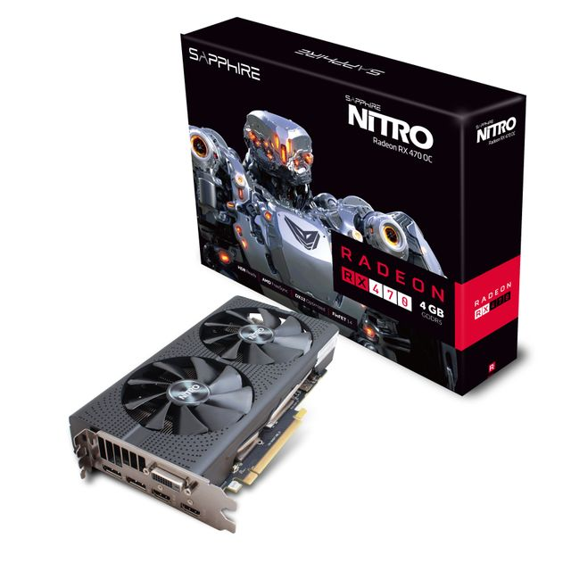 SAPPHIRE TECHNOLOGY - Carte Graphique - NITRO RADEON RX 470 4G PCI-E LITE - Reconditionné