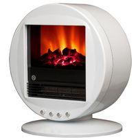 Chemin'ARTE - cheminée électrique 2000w blanc - fire bowl blanc