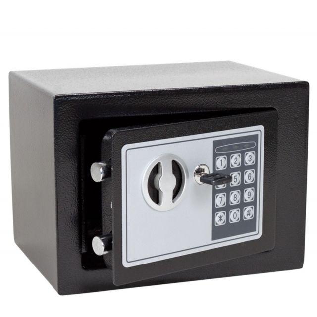 helloshop26 mini coffre fort acier avec serrure code. Black Bedroom Furniture Sets. Home Design Ideas