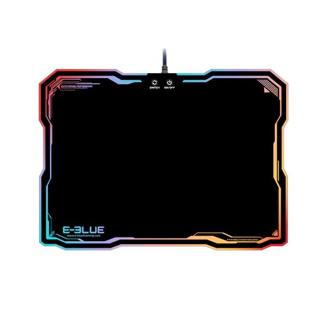 E-BLUE Tapis de souris Gamer avec rétro-éclairage RGB LED EMP013 Tapis de souris Gamer avec rétro-éclairage RGB LED - E-BLUE - EMP013