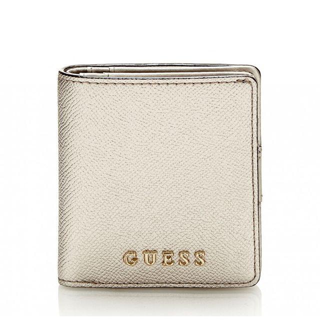 313a0df1f24e Guess - Porte-Monnaie Isabeau Mini Wallet Argent - pas cher Achat   Vente  Porte-monnaies - RueDuCommerce