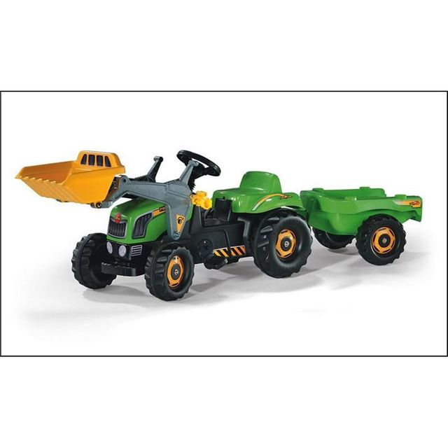 Rolly Toys 023134 Tracteur pour enfants RollyKid avec godet et remorque