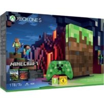 MICROSOFT - Pack Xbox One S 1To Minecraft Edition Limitée