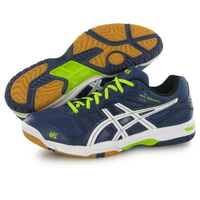 Asics Gel Rocket 7 bleu, chaussures indoor homme pas