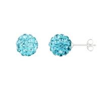 Alexandra Plata - Boucles d'oreilles en argent sterling en cristal turquoise