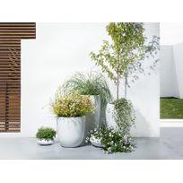 Beliani - Cache-pot de fleurs - blanc - accessoire de jardin - 47x47x100 cm - Onega