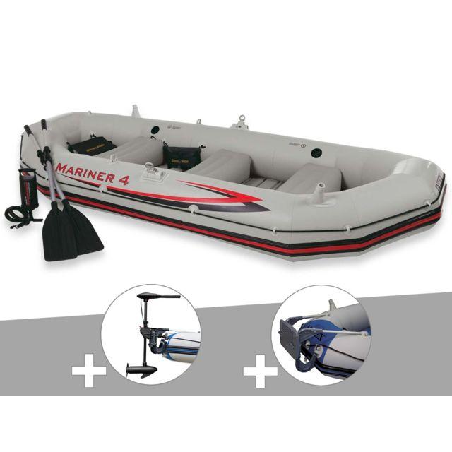 intex kit bateau gonflable 4 places mariner 4 avec moteur rames et gonfleur pas cher achat