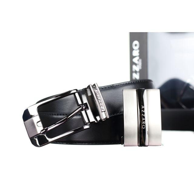 Azzaro - Coffret 2 Boucles 316 New Reversible Noir Marron - pas cher ... 63e7c658ab5