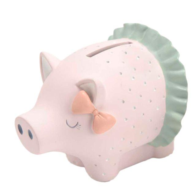 Amadeus Petite tirelire cochon avec petit n?ud
