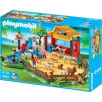 Playmobil - 4851 Jeu de construction Parc animalier avec famille