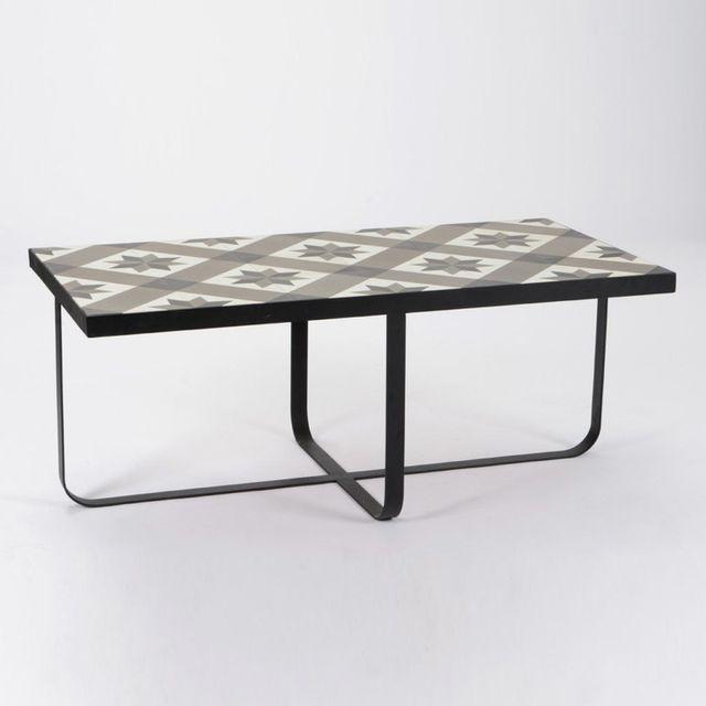 Amadeus Table basse rectangulaire en carreaux de ciment L121 cm Ama