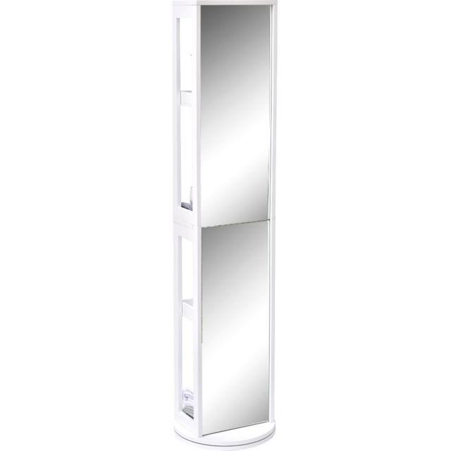 tendance colonne de salle de bain pivotante blanche miroir et niches pas cher achat vente. Black Bedroom Furniture Sets. Home Design Ideas