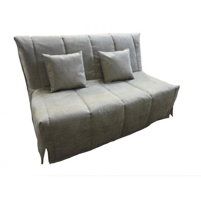 inside 75 canap bz convertible flo gris lin 140 200cm. Black Bedroom Furniture Sets. Home Design Ideas
