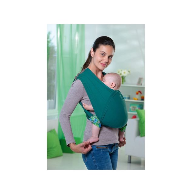 Amazonas - Echarpe de portage sans noeud Carry Baby Petrol - pas ... 70c672c0ce9