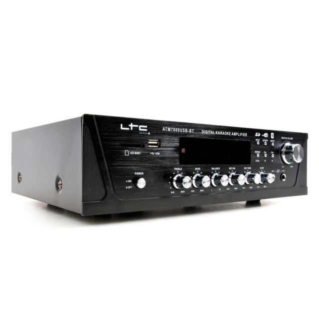 Ltc Audio Amplificateur stéréo Ltc 100W tuner digital, Usb/SD/MMC/BT/KARAOKE