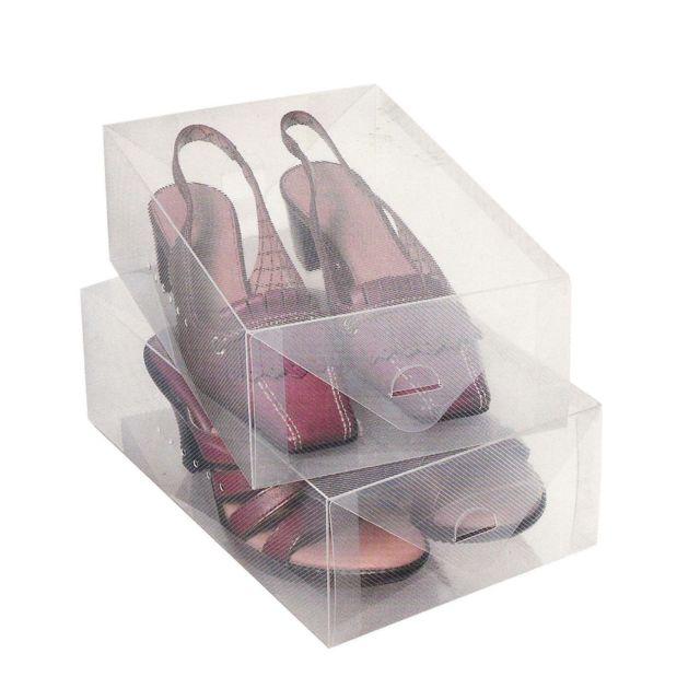 Urban living 2 boîtes de rangement pour <strong>chaussures</strong> transparent