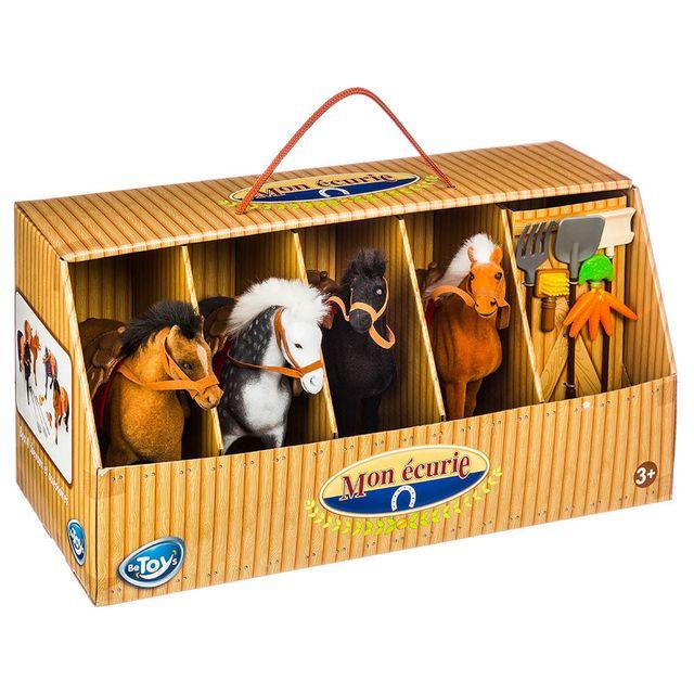 BETOYS Mon écurie et ses 4 chevaux + accessoires
