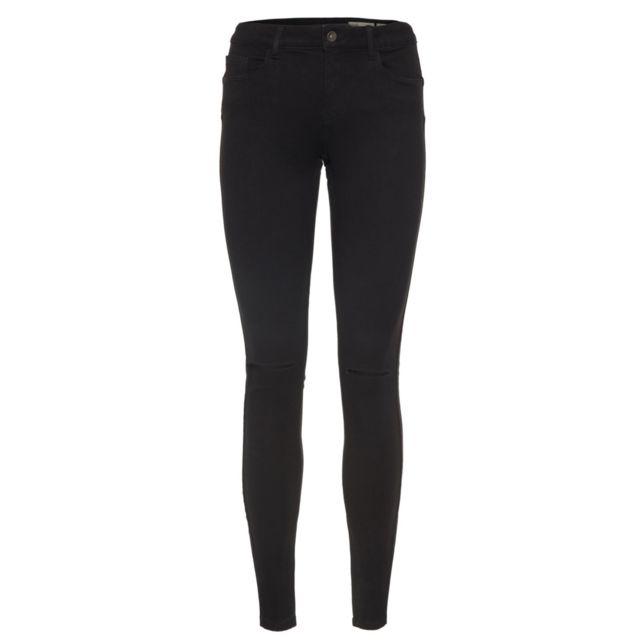0fab3f91dfb69 Vero moda - Jean Noir Slim Seven Les Noirs - pas cher Achat / Vente Jeans  femme - RueDuCommerce