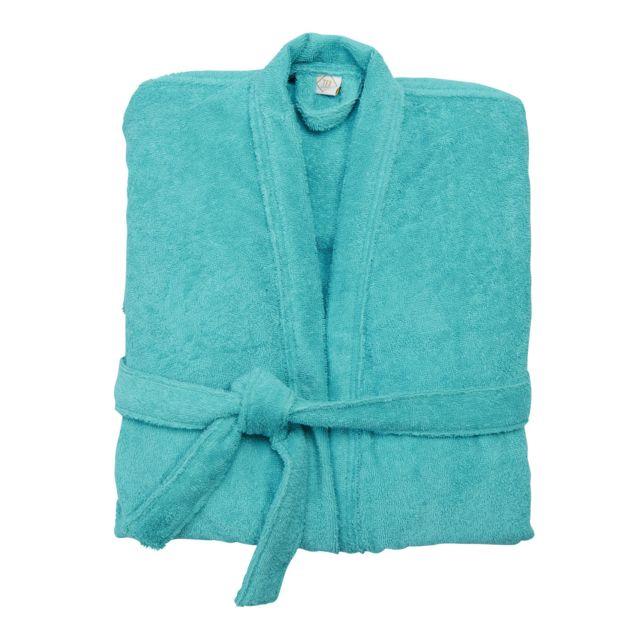 tex home peignoir bath en coton jade s m pas cher achat vente peignoirs de bain. Black Bedroom Furniture Sets. Home Design Ideas