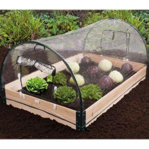 idmarket mini serre de jardin avec ch ssis bois housse amovible pas cher achat vente. Black Bedroom Furniture Sets. Home Design Ideas