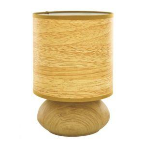 prodis lampe touch sensitive de chevet pied m tal motif bois pas cher achat vente lampes. Black Bedroom Furniture Sets. Home Design Ideas