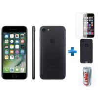 APPLE - iPhone 7 - 128 Go - Noir - Reconditionné + Verre trempe iPhone 6/6s/7/8 - Transparent + iPhone 6/6s Perf metal case - Noir + Batterie de secours Coca-Cola Light 7200 mAh