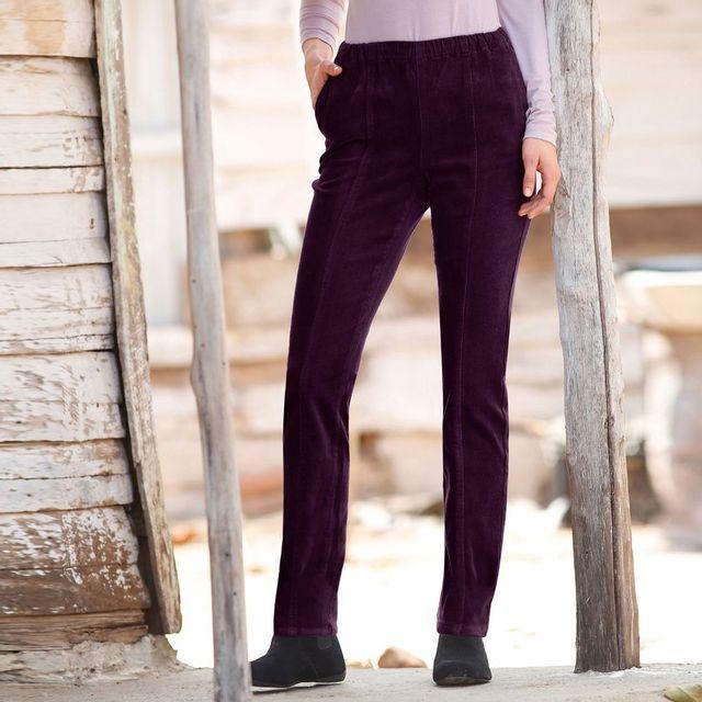 Blancheporte - Pantalon velours milleraie - pas cher Achat   Vente Pantalon  femme - RueDuCommerce 54660bf110e