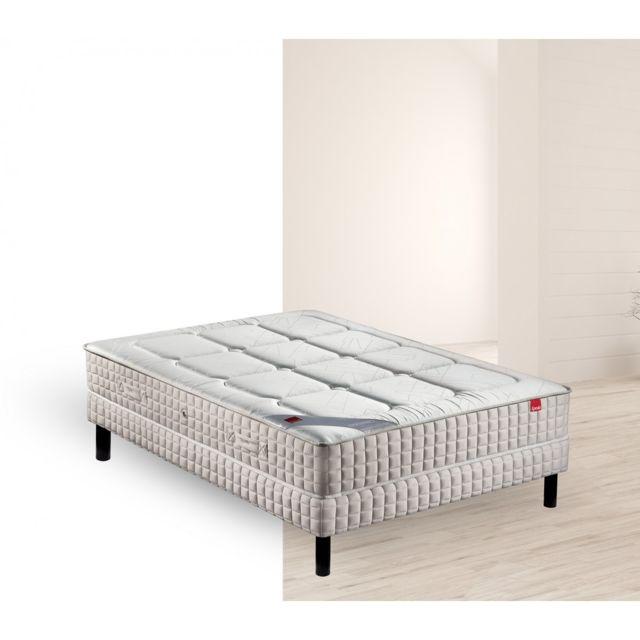 epeda ensemble matelas ressort yucca sommier pieds 140x190 pas cher achat vente ensembles. Black Bedroom Furniture Sets. Home Design Ideas