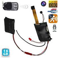 Yonis - Mini caméra espion Hd 1080P télécommandée détecteur de mouvement 16 Go