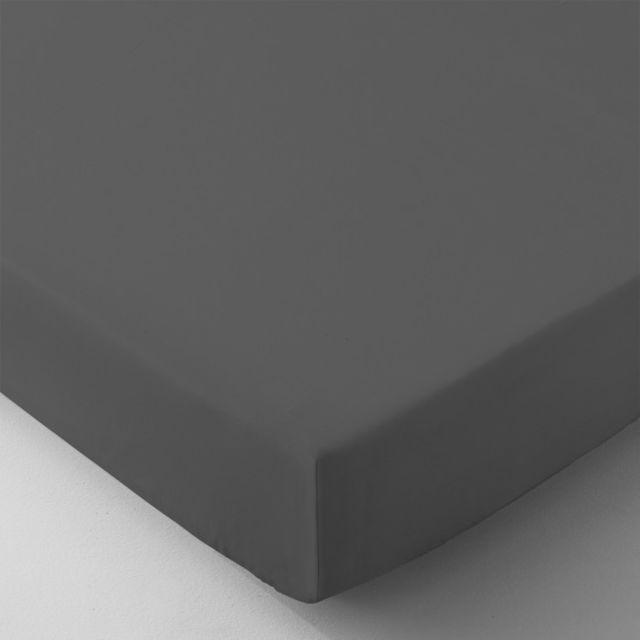 selene et gaia drap housse grand bonnet tout uni en percale de coton 80 fils cm2 fabrication. Black Bedroom Furniture Sets. Home Design Ideas