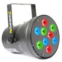 Beamz - Par36 Spot Projecteur d'effets lumineux 9x Led 3 couleurs Dmx Xlr