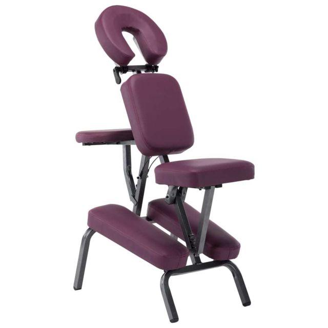 sublime Massage & relaxation serie Dili Fauteuil de massage Similicuir Bordeaux rouge 122x81x48 cm