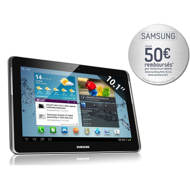 Samsung - Galaxy Tab 2 P5110 - Tablette Tactile 10.1'' Capacitif - Wi-Fi - Bluetooth - 16 Go - Android 4.0 - Titanium Silver