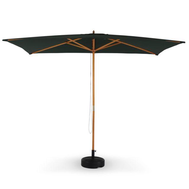 alice 39 s garden parasol droit rectangulaire en bois 2x3m. Black Bedroom Furniture Sets. Home Design Ideas