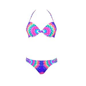 LOLITA ANGELS Maillot 2 pièces push-up multicolore à motifs Salsa